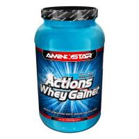 AMINOSTAR Actions whey gainer příchuť jahoda 1000 g
