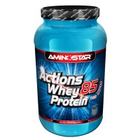 AMINOSTAR Actions whey protein 85% příchuť jahoda 2000 g