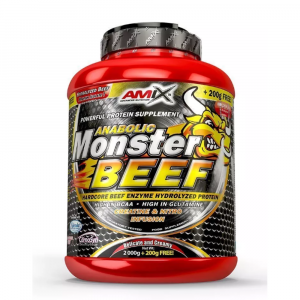 AMIX Anabolic monster BEEF 90% protein lesní ovoce 2200 g