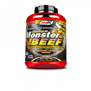 AMIX Anabolic monster BEEF 90% protein jahoda a banán 2200 g