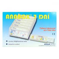 ANABOX Dávkovač na léky 7 dní modrý
