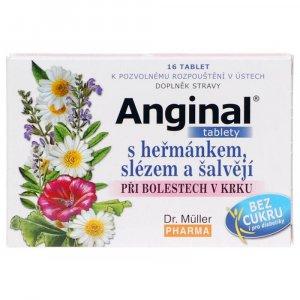 DR. MÜLLER Anginal tablety s heřmánkem + slézem tbl. 16