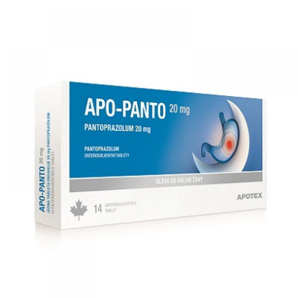 APO-PANTO 20 MG ENTEROSOVENTNÍ TABLETY 14X20MG Tablety
