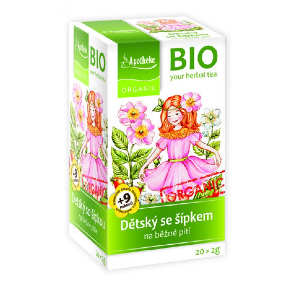 Apotheke Green BIO ovocný se šípkem 20 x 2 g