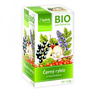 APOTHEKE Ovocný čaj s černým rybízem 20 sáčků BIO