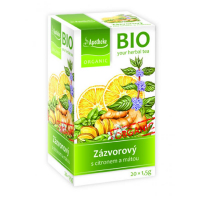 APOTHEKE Zázvorový čaj s citronem a mátou BIO 20x1,5 g