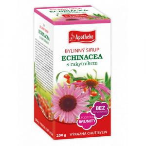 APOTHEKE Bylinný sirup Echinacea s rakytníkem 250 g