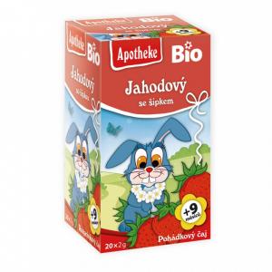 APOTHEKE Pohádkový čaj Jahodový se šípkem BIO 20 sáčků
