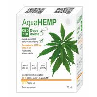 AQUAHEMP CBD 100 Konopné kapky izolát 50 ml