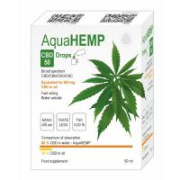 AQUAHEMP CBD 50 Konopné kapky široké spektrum 50 ml