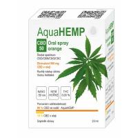 AQUAHEMP CBD 50 Konopný ústní sprej široké spektrum pomeranč 23 ml