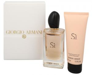 Giorgio Armani Si Parfémovaná voda 100ml Edp 100ml + 75ml tělové mléko