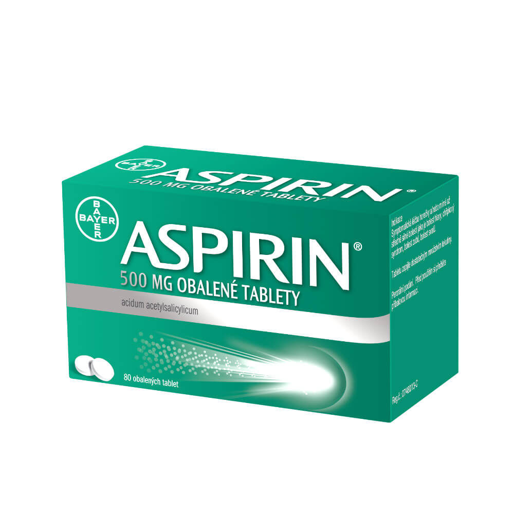 Levně ASPIRIN 500 mg 80 obalených tablet