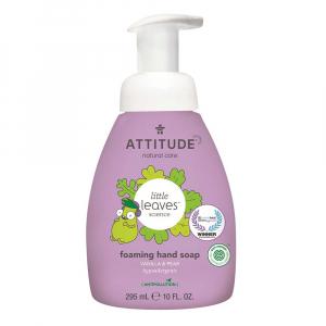 ATTITUDE Little leaves dětské pěnivé mýdlo na ruce s vůní vanilky a hrušky 295 ml