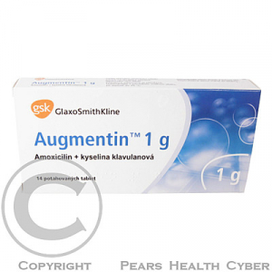 AUGMENTIN 1 G  14X1GM Potahované tablety