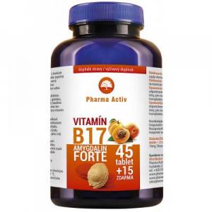 PHARMA ACTIV Amygdalin Forte Vitamín B17 45 +15 tablet ZDARMA