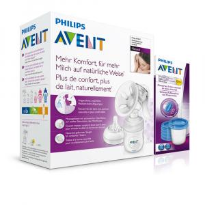 PHILIPS AVENT Manuální odsávačka Natural se zásobníkem 125 ml + VIA