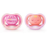 PHILIPS AVENT Šidítko Ultra Air s obrázkem 6–18 měsíců pro dívky 2 ks