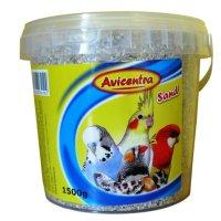 AVICENTRA Písek pro Ptáky s Drcenými Mušlemi 1,5 kg Kyblík