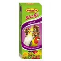 AVICENTRA tyčinky malý papoušek - ovoce + ořech 2 kusy