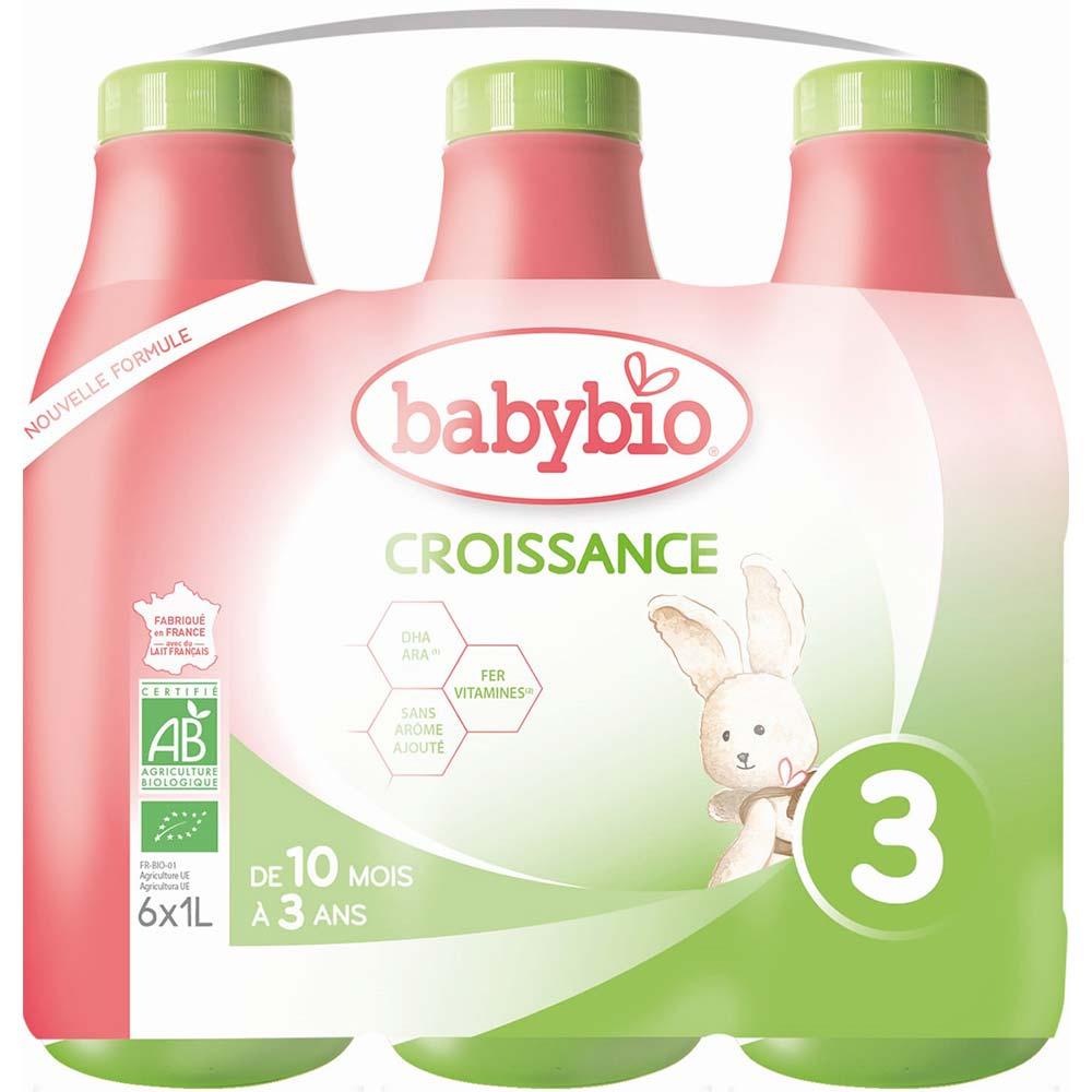 BABYBIO Croissance 3 Tekuté pokračovací kojenecké mléko od 10 měsíce do 3 let BIO 1 l