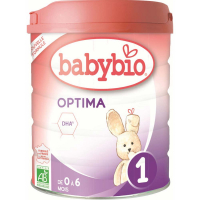 BABYBIO Optima 1 Počáteční kojenecké mléko od 0-6 měsíců BIO 800 g