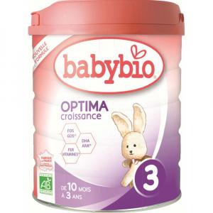BABYBIO Optima 3 Pokračovací kojenecké mléko od 10 měsíce do 3 let BIO 800 g