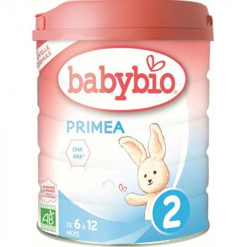 BABYBIO Primea 2 Pokračovací kojenecké mléko od 6-12 měsíců BIO 800 g