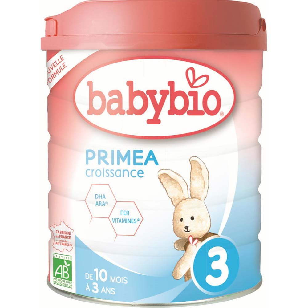 BABYBIO PRIMEA 3 CROISSANCE kojenecké bio mléko 800g