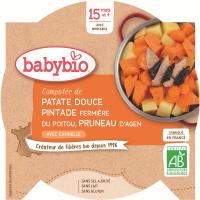 BABYBIO Sladké brambory s masem z perličky a sušenými švestkami 260 g