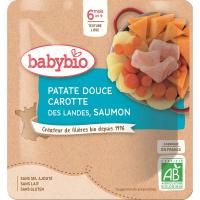 BABYBIO Sladké brambory s mrkví a lososem 190 g