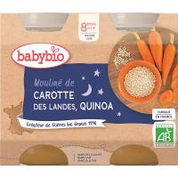 BABYBIO Večerní menu Mrkvové mouliné a quinoa 2x200 g