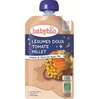 BABYBIO Večerní menu Sladká zelenina s rajčaty a prosem 120 g