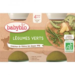 BABYBIO Zelená zelenina 2x130 g