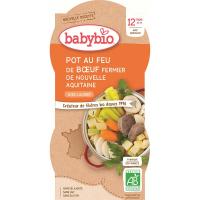 BABYBIO Zelenina s hovězím masem 2x200 g