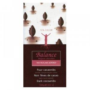BALANCE 72% hořká čokoláda s kakaovými boby bez přidaného cukru 100 g