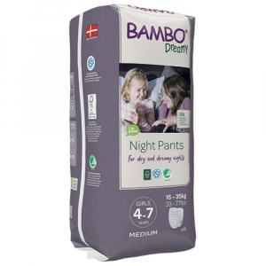 BAMBO Dreamy Night Pants 4 až 7 let Girl 15-35 kg 10 ks