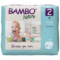 BAMBO Nature 2 Dětské plenkové kalhotky 3-6 kg 30 ks
