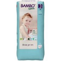 BAMBO Nature 3 Dětské plenkové kalhotky 4-8 kg 52 ks