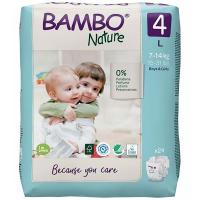 BAMBO Nature 4 Dětské plenkové kalhotky 7-14 kg 24 ks