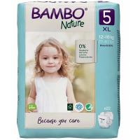 BAMBO Nature 5 Dětské plenkové kalhotky 12-18 kg 22 ks