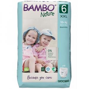 BAMBO Nature Pants 6 Navlékací treninkové plenkové kalhotky 18+ kg 18 ks