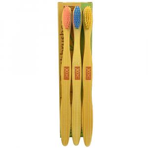 XOC Bambusový zubní kartáček Soft 3 ks (3 pack)