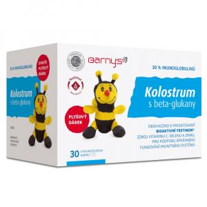BARNY´S Kolostrum s betaglukany 30 kapslí + dárek VČELKA