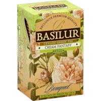 BASILUR Bouquet Cream Fantasy zelený čaj 25 sáčků