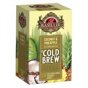 BASILUR Cold Brew Coconut Pineapple ovocný čaj 20 sáčků