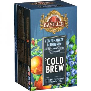 BASILUR Cold Brew Pomegranate Blueberry ovocný čaj 20 sáčků