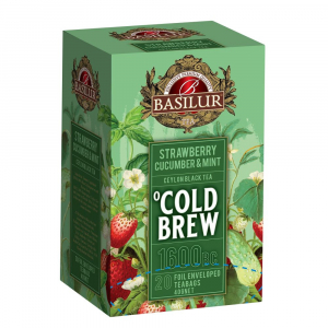 BASILUR Cold Brew Strawberry Cucumber & Mint ovocný čaj 20 sáčků