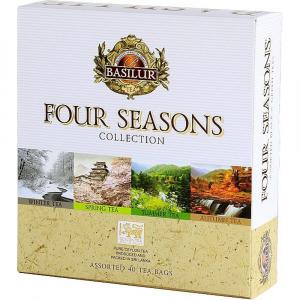 BASILUR Four Seasons Assorted směs černých a zelených čajů 40 sáčků