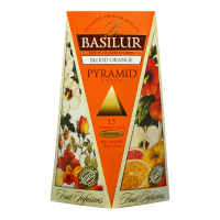 BASILUR Fruit Infusions Blood Orange pyramid ovocný čaj 15 sáčků